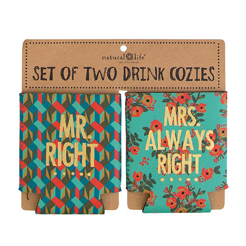 mr mrs right can cozies