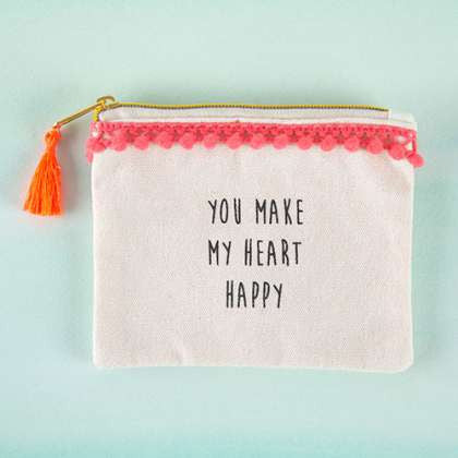 Tassel Pouch Heart Happy