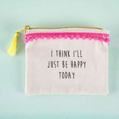 Tassel Pouch Happy Today