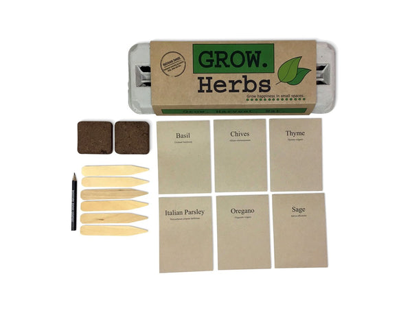 Grow Herbs Egg Carton Patio Garden