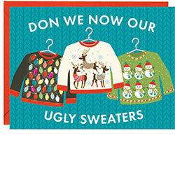 10 Pack Ugly Sweater Holiday Notecards