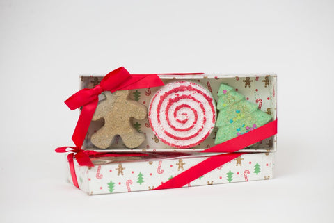 Holiday Bath Bomb Trio Set