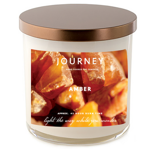 Journey Amber Handmade Soy Wax Candle