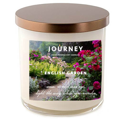 English Garden Journey Soy Wax Candle