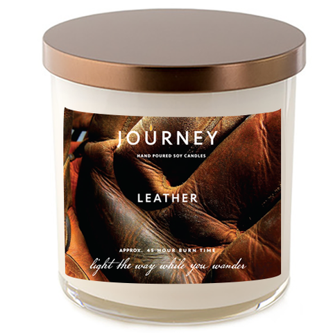 Journey Leather Handmade Soy Wax Candle