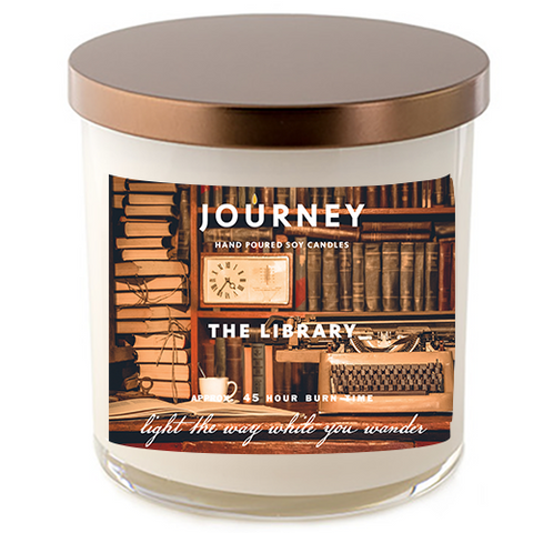 The Library Journey Soy Wax Candle