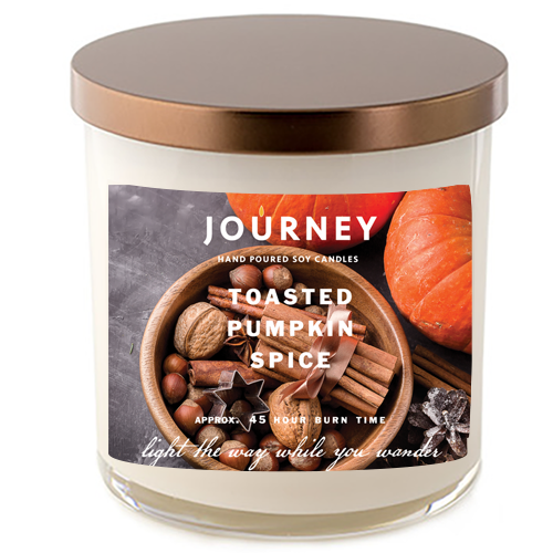 Journey Toasted Pumpkin Spice Soy Candle