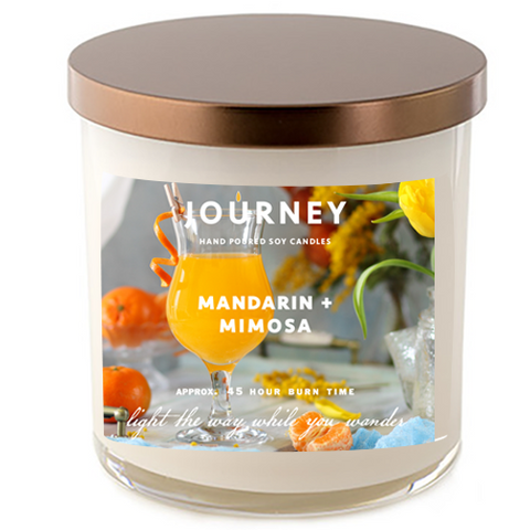 Mandarin and Mimosa Journey Soy Wax Candle