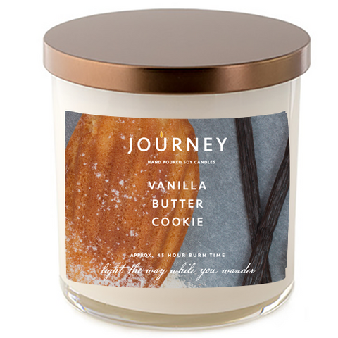 Journey Vanilla Buter Cookie Handmade Soy Wax Candle