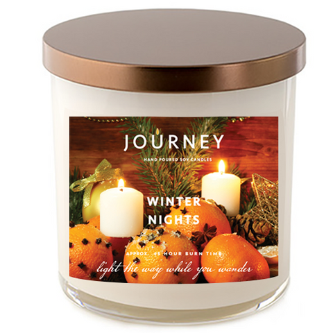 Winter Nights Journey Handmade Soy Wax Candle
