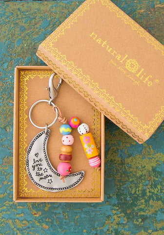 Love You To The Moon Santa Fe Boxed Keychain