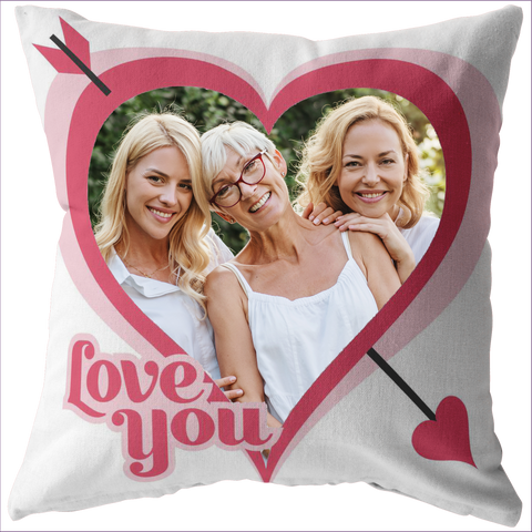 Love you Cupid's arrow personalized pillow