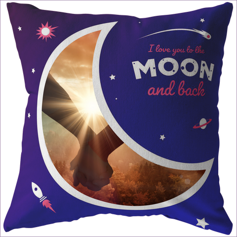 Love you to the moon and back personalized pillow