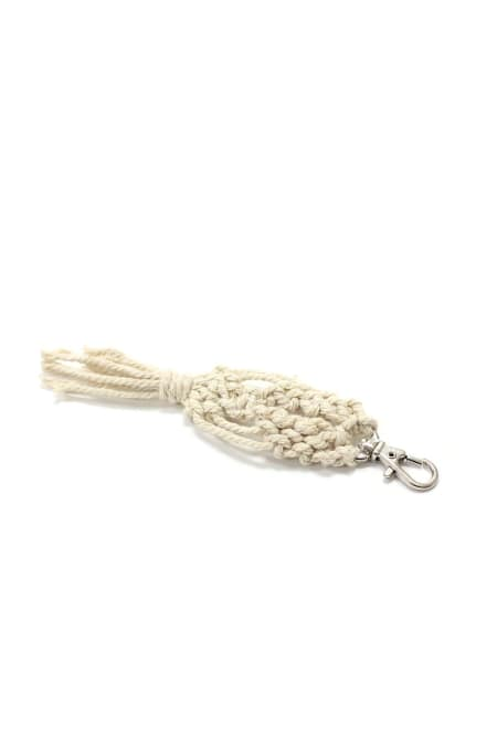 Knotted Oval Macrame Keychain