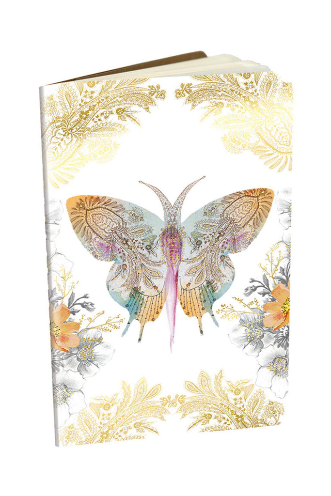 Paisley Butterfly Mini Notebook