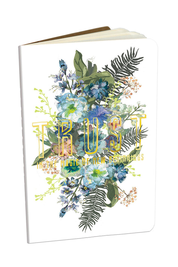Blue Bouquet Mini Notebook