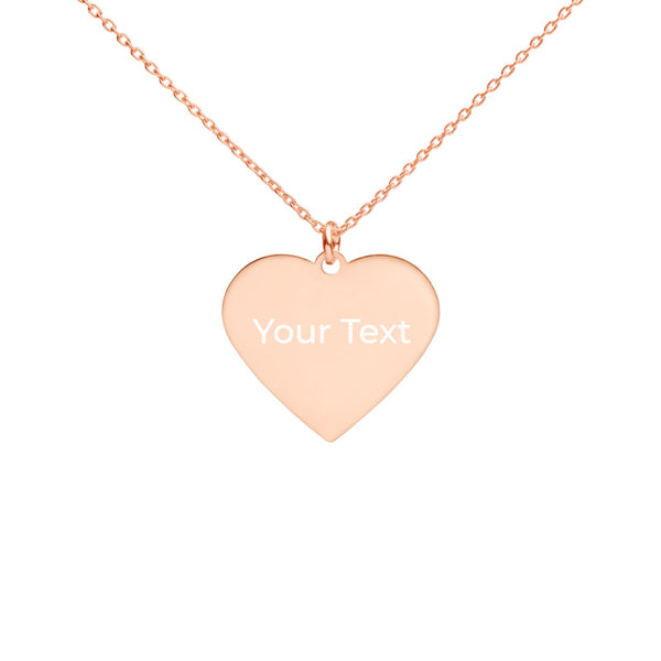 Personalized Sterling Silver Heart Necklace-FREE SHIPPING