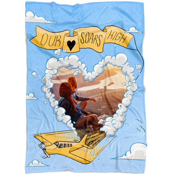 Our love soars high personalized oversized fleece blanket