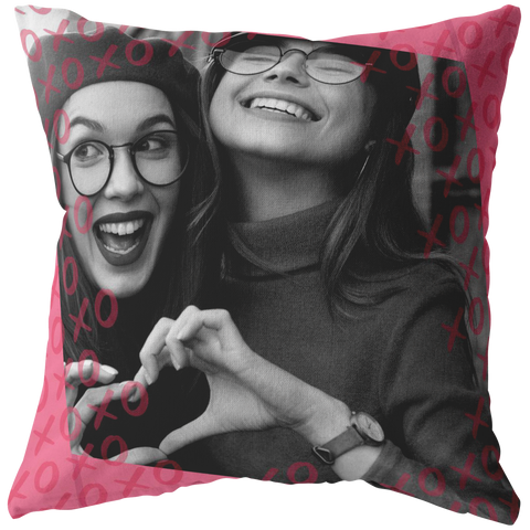 Hugs and Kisses XOXO Personalized Pillow