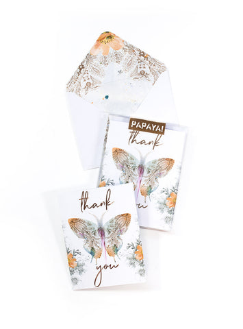 Paisley Butterfly Thank You Card Set