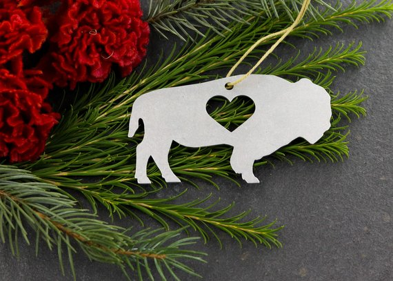 Buffalo Metal Ornament