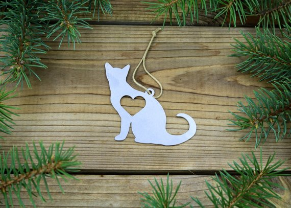 Cat Metal Ornament