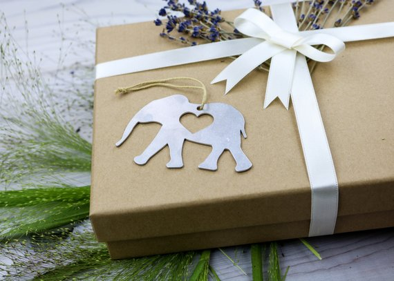 Elephant Metal Ornament