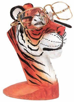 Tiger Peeper Eyeglass and Business Card Holder