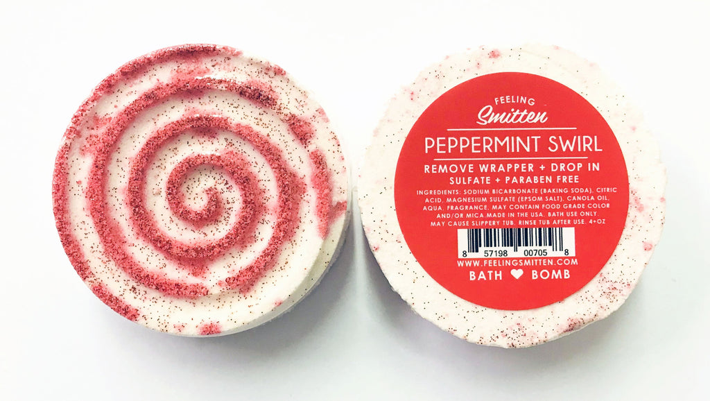 Peppermint Swirl Bath Bomb