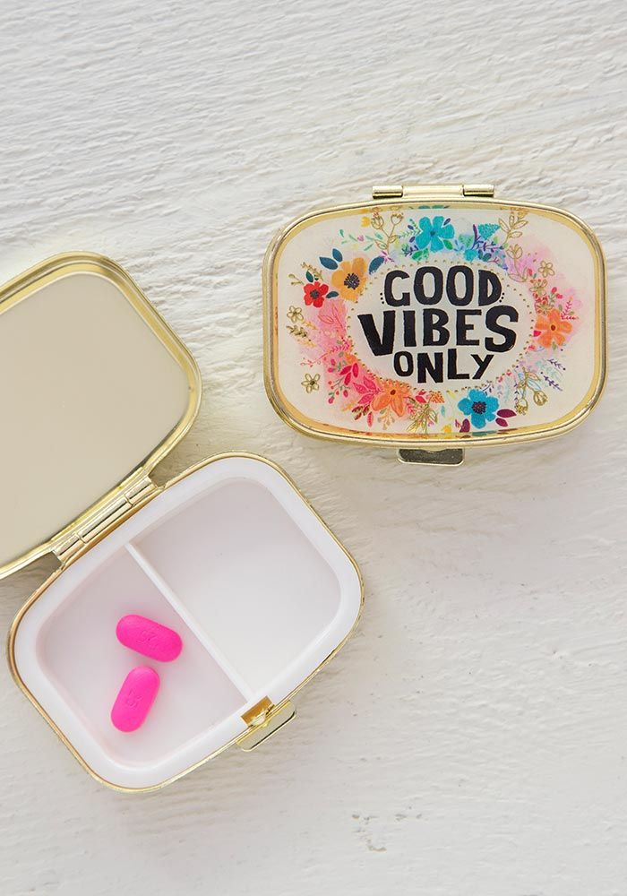 Good Vibes Only Pill Box