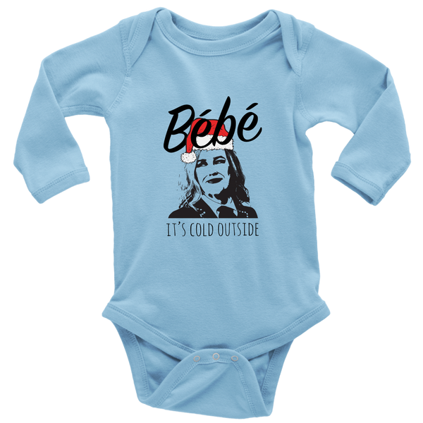 Bebe It's Cold Outside Long Sleeve Baby Bodysuits