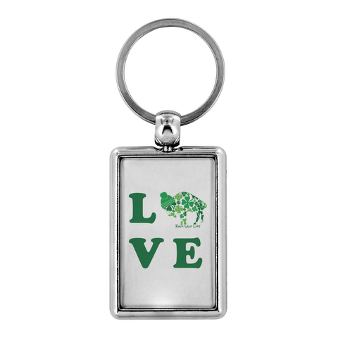 Lucky in BuffaLove Rock Salt Life Metal Key Chains