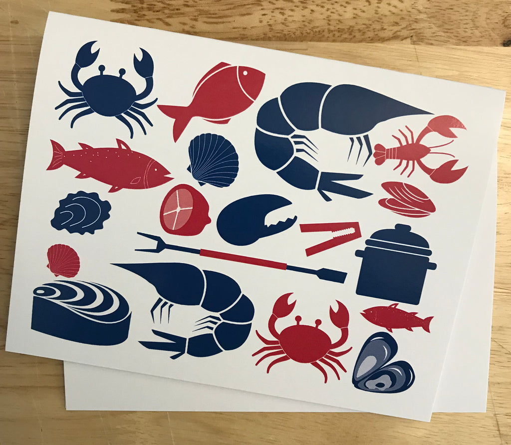 Seafood Notecards 10 pack