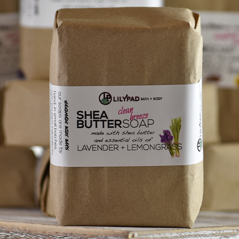 Clean Breeze Lemongrass and Lavender Shea Butter Bath Bar