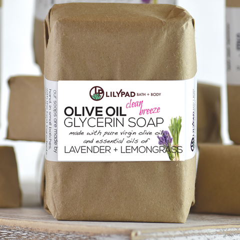 Clean Breeze Lemongrass and Lavender Olive Oil Bath Bar