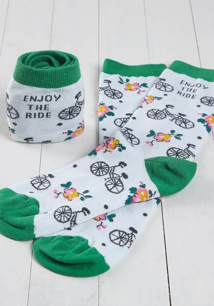 Enjoy The Ride Bike Hobby Socks