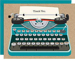Vintage Typewriter Thank You Cards