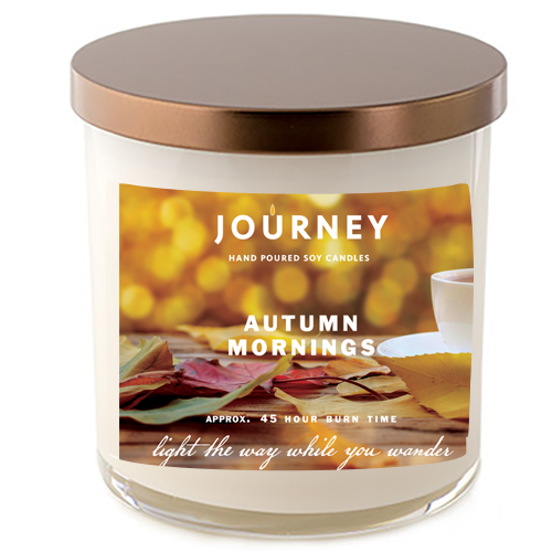 Autumn Mornings Journey Soy Candle