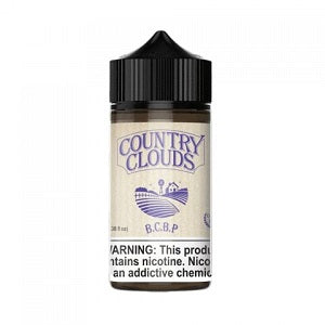 Country Clouds 100mL- Blueberry Cornbread Pudding Pie - iDrip E Juice