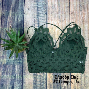 Army Green Bralette Shabby Chic Boutique and Tanning Salon
