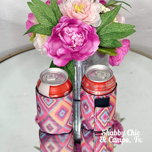 Aztec print Koozie 12 oz Can Shabby Chic Boutique and Tanning Salon