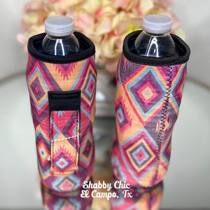 Aztec Water Bottle Koozie Shabby Chic Boutique and Tanning Salon