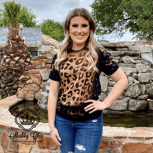 Bleached Leopard Tee Shabby Chic Boutique and Tanning Salon
