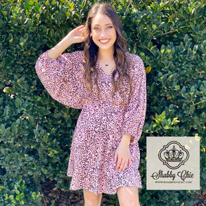 Blush Cheetah Dress Shabby Chic Boutique and Tanning Salon