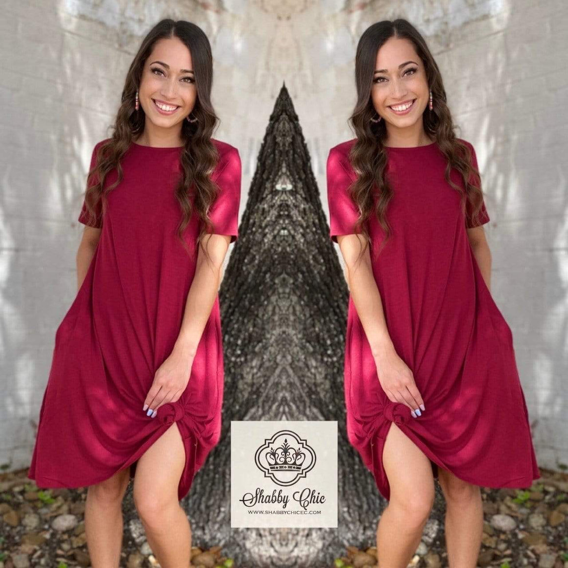 Cabernet Tee Dress Shabby Chic Boutique and Tanning Salon Dresses