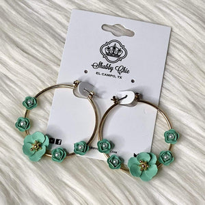 Circle of Flowers Earrings Shabby Chic Boutique and Tanning Salon