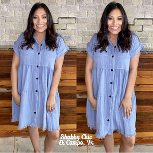 Denim Boho Dress Shabby Chic Boutique and Tanning Salon