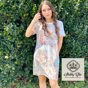 Floral Tshirt Dress Shabby Chic Boutique and Tanning Salon