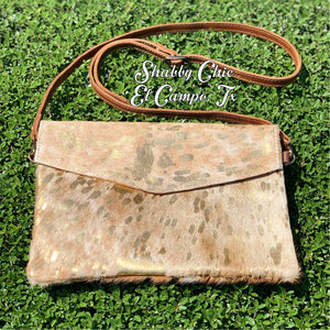 Gold Hide Crossbody Shabby Chic Boutique and Tanning Salon