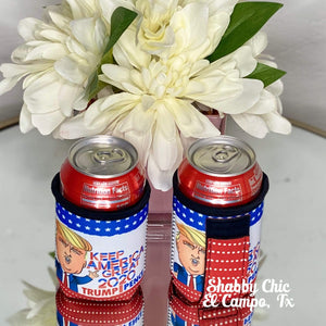 Keep America Great Koozie 12 oz Can Shabby Chic Boutique and Tanning Salon